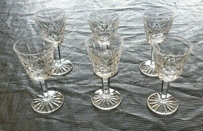 Set Of 6 Cut Glass / Crystal Sherry Glasses • 19.95£