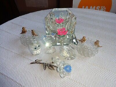 Assortment Of Crystal And Glass Ornaments • 6£