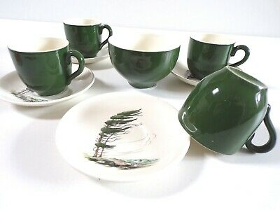 MYOTT Westwind COFFEE Demitasse CUPS SAUCERS SUGAR BOWL 11 PIECE VINTAGE SET • 22£