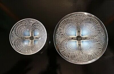 Rene R Lalique Matching Plate And Bowl. Art Deco Period C1920's  - Signed. • 495£