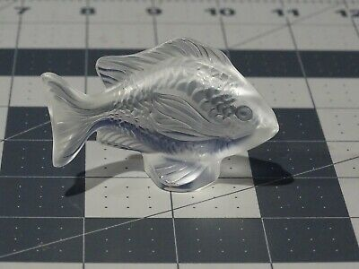 Lalique Damsel Fish Figurine Frosted Clear New In Box • 106.58£