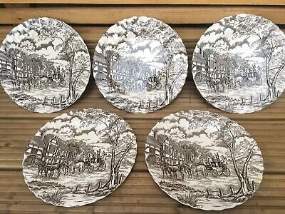 Set Of 5 Royal Mail Fine Staffordshire Ironstone Plates  • 32.99£