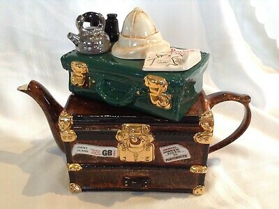 Rare Teapottery Swineside Collectable Novelty Large Darkest Africa Trunk Teapot • 25£