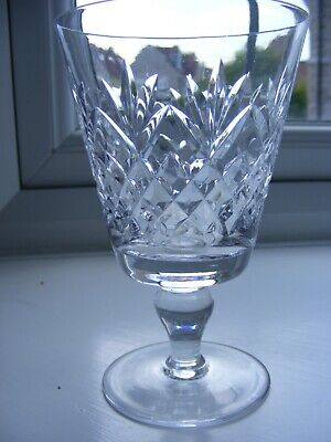Vintage Stuart Cut Crystal Glass Wine Goblet • 3.25£