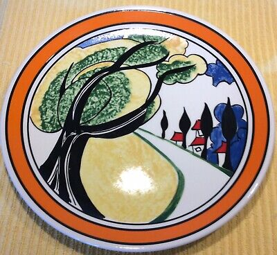 Clarice Cliffe Bizarre Plate May Avenue By Wedgwood 10.5 Inches Diameter • 36£
