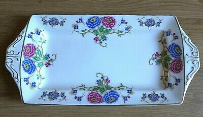 VINTAGE ALFRED MEAKING 1930s RECTANGULAR  CHINA SANDWICH PLATTER TRAY • 15£