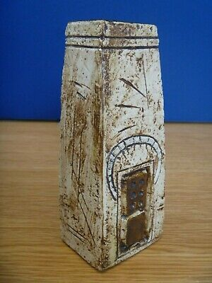 Stunning & Authentic 1974 Troika 'Domino' Coffin Vase By Sue Kewell • 160£