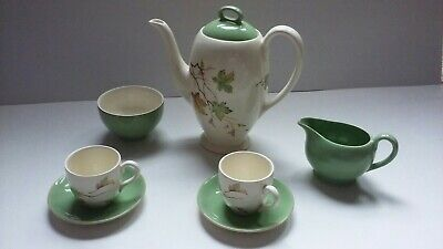 Vintage Myott Set - Windswept Leaves - Cups, Saucers, Coffee Pot Sugar Bowl, Jug • 19.99£