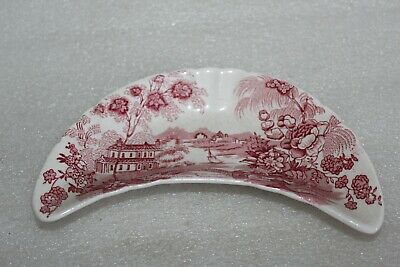 Clarice Cliff Tonquin Royal Staffordshire Crescent Shape Dish / Tray • 4.99£