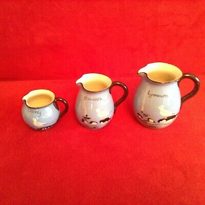 Jugs And Creamer From Babbacombe Pottery,Torquay, Seagull • 18£