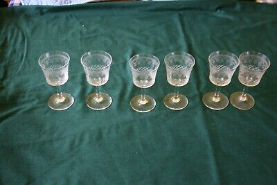 Vintage Etched Sherry Glasses X 6  • 20£