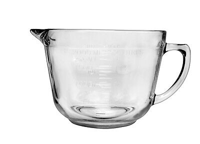 Anchor Hocking 81605L11 Batter Bowl Crystal Clear Glass Made In USA • 11.48£