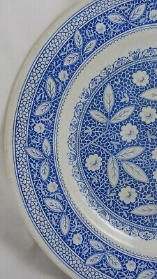 Antique Plate Aesthetic Blue/White Old Hall Pompadour Iznic Persian 1880 • 22£