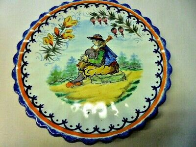 Vintage Quimper  Plate Direct From House Clearance • 8.99£
