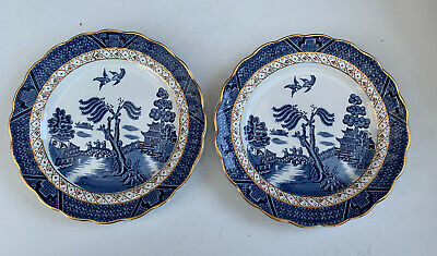 Vintage Booths Real Old Willow Two Side Plates • 19.99£