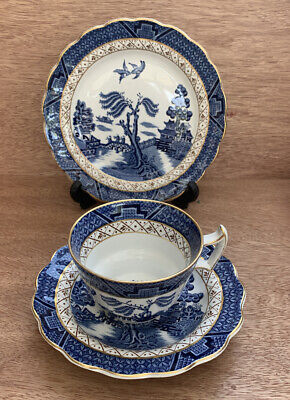Vintage Booths Real Old Willow Trio - Cup, Saucer & Side Plate • 20£