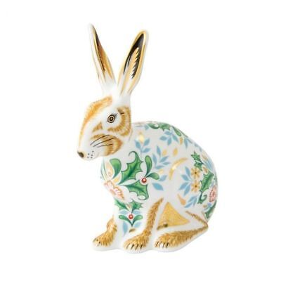 New Royal Crown Derby 1st Quality Winter Hare Paperweight • 125£