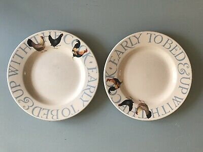2 X Emma Bridgwater Plates. Chipped See Photos. Still Useful! • 4£