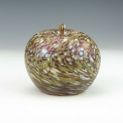 Vintage Apple Formed Iridescent Glass Paperweight - Lovely! • 9.99£