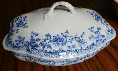 Antique Tureen Dish And Lid Clementson Bros Star Victorian Serving Bowl • 30£