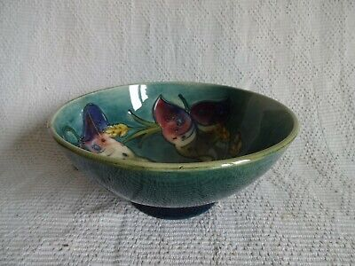 MOORCROFT  Green FOOTED BOWL With Rare Floral Design • 19.99£
