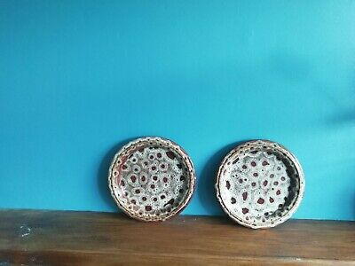 2 X Fosters Cornish Side Plates Brown / Honeycomb Vintage Retro 70s • 9.97£