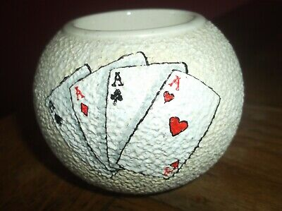 Vintage W & R Carlton Ware Match Holder Playing Cards Four Aces Rare • 24.99£