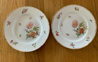 Fine Pair Of French Sarreguemines Porcelain Cabinet Plates Hand Painted C1890 • 0.99£