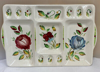 Rare 17  X 11   Vintage Beswick Ware Ceramic Floral Eggs Tray Plate 1636 (D5) • 9.99£
