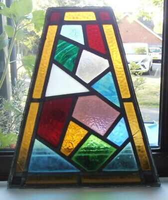 Leaded Stained Glass Window Multi Colour & Different Textured Glass Malachite • 24.99£