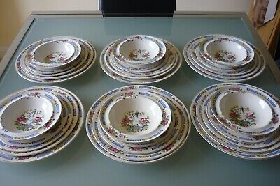 Lord Nelson Ware T'SING Pottery Dinner Service – 6 Place Settings • 75£