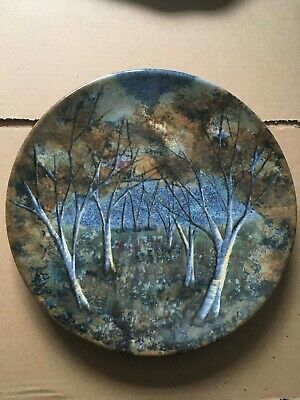 An IMPRESSIVE Highland Stoneware CHARGER Trees Wood No. 67/100 Hand Painted 30cm • 49.95£