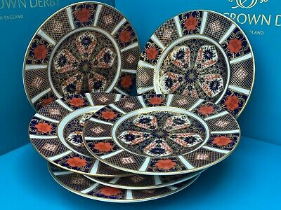 New Royal Crown Derby 2nd Quality Old Imari 1128 Set Of 6 X 6   16cm Side Plates • 250£