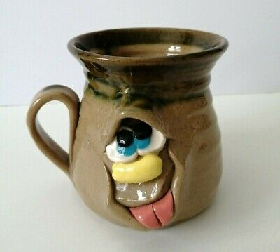 Vintage Welsh Handmade Pretty Ugly Pottery Mug Cup Beaker Novelty Collectable • 8.99£