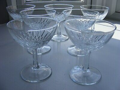 7 X Champagne Glasses Coupe - Made In France • 9.50£