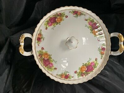 Royal Albert OLD COUNTRY ROSES 1962 Lidded Tureen 2nd. Rub To Gilt. • 13.50£