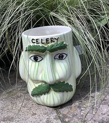 """Vintage Celery Jar - Price Kensington - 2 Faced - 1960's - 6"""" Inches X 5"""" Inches • 4.99£"""