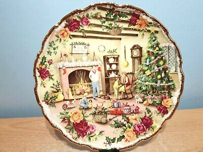 Royal Albert Old Country Roses Celebration Plate  Christmas Warmth .1st Quality. • 11.50£