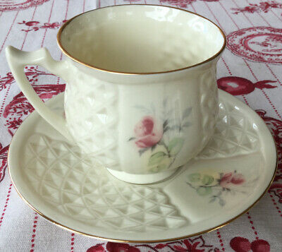 Donegal Parian China Cup & Saucer Pink Rose • 15£