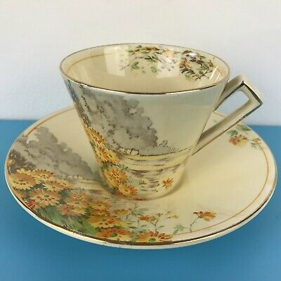 Royal Winton Grimwades 'Yellow Morn' Art Deco Teacup And Saucer Ex Condition • 19.99£