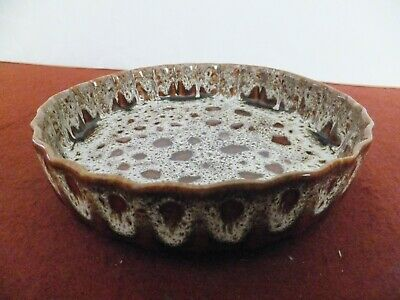 Fosters Pottery FLUTED EDGE FLAN DISH • 12.50£