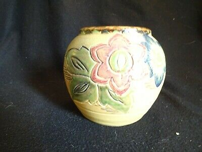 Vintage BRETBY Pottery Floral Vase Approx 4.75  Tall • 4.99£