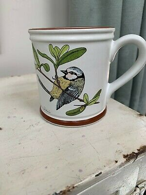 Denby Pottery Blue Tit Mug, Birds Of A Feather Series • 10£