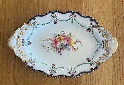 Lovely Hand Painted And Gilded Royal Worcester Large 31cm Dish Dated 1909 • 25£