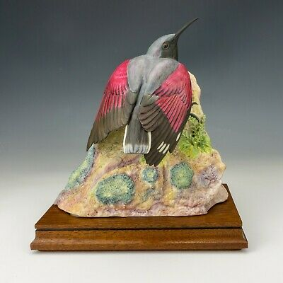 Royal Worcester China - Wall Creeper Bird Figure By James Adler - Ltd Edition! • 31£