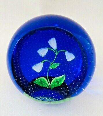 Caithness Lily Of The Valley Vintage Glass Lampworked Paperweight • 15£