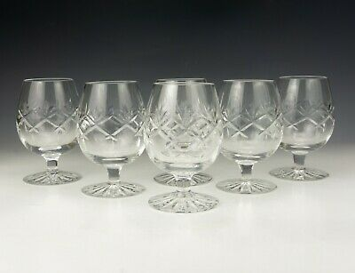 Vintage Set Of Cut Crystal Glass - Small Brandy Drinking Glasses - Lovely! • 14.99£