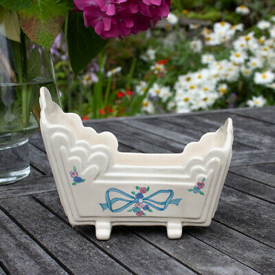 Art Deco Clarice Cliff Art Pottery Posy Flower Holder Vase Trough • 0.99£