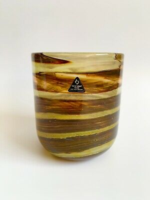 Stunning Isle Of Wight Earth Tones Vase Flame Pontil Mark Micheal Harris • 1.20£