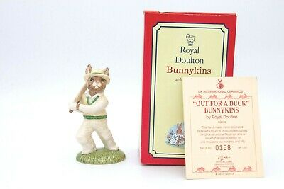 Royal Doulton DB160 Out For A Duck Bunnykins - Boxed With COA • 59£